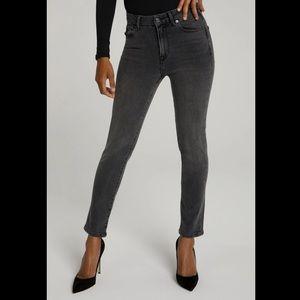 Good American Good Classic Black High Rise Jeans